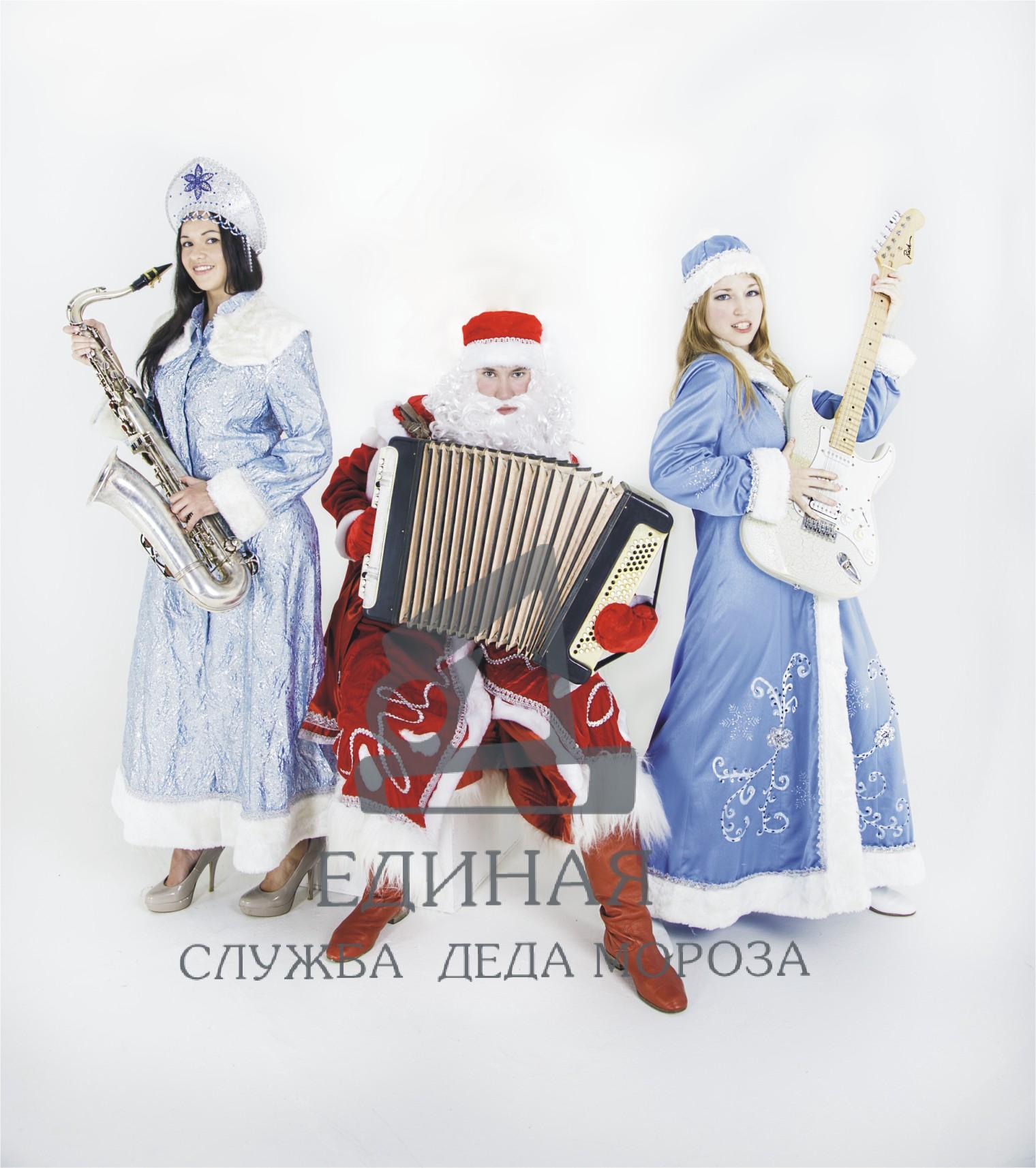 Дед Мороз и Снегурочка - музыканты