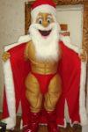 Шуточный стриптиз ростовой куклы Деда Мороза и Снегурочки